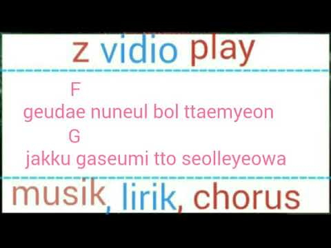 Musik lirik and chords guitar Chen ft. Punch everytime