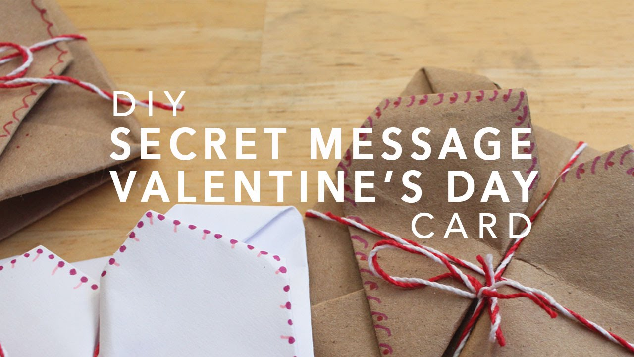 hidden message valentines day card diy secret message s day card origami 6707