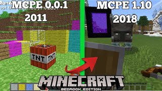 Evolution of MCPE 0.0.1 TO MCPE 1.10 (Village and Pillage) (Pocket Edtion)