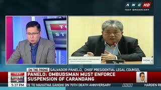 Top Story: Panelo to Ombudsman: Enforce suspension order vs Carandang or face sanctions
