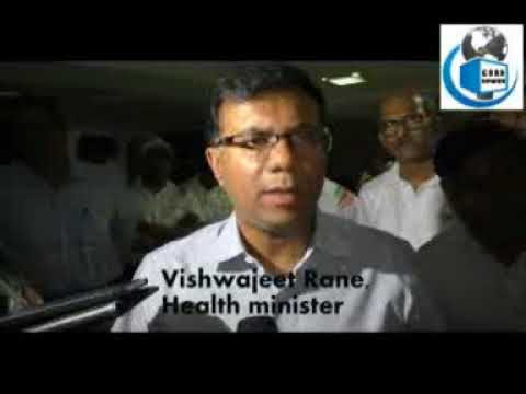 health minister vishwajeet rane on health facilities in goa