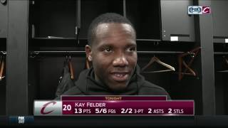 Kay felder excited to show what he's capable of after the cleveland cavaliers' win