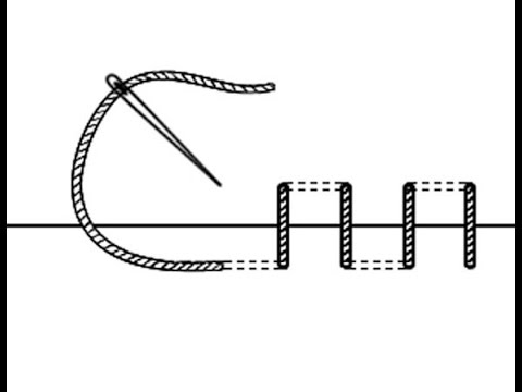 Как делать потайной шов