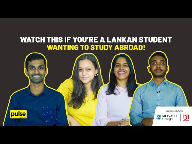 Watch This if You're a Lankan Student Wanting to Study Abroad!