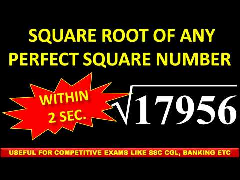 3. Within 2 secs Find Square root of any perfect square number Ex 17956
