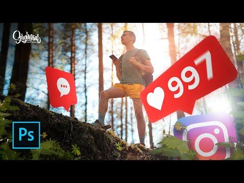 Как добавить СОЛНЕЧНЫЙ БЛИК на фото! Photoshop | ВидеоУрок Фотошоп