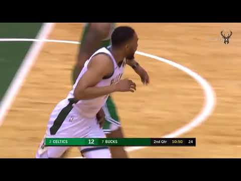 Giannis meets Semi at the rim and Jabari dunks the alley oop on the other end.