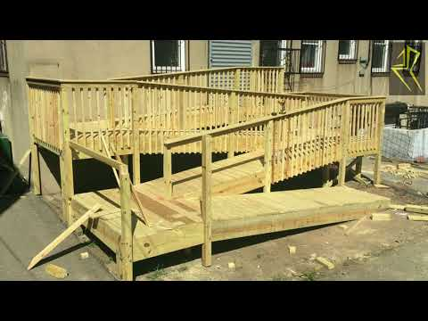 Building  a Handicapped Access Ramp Pre Kindergarten Project
