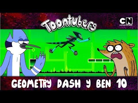 EL MEJOR ENTRENAMIENTO PARA EL GEOMETRY DASH ES BEN 10 | ToonTubers | Cartoon Network