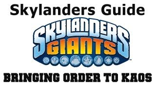 COTV - Skylanders Giants Bringing Order to Kaos Find All Collectibles Chapter 16