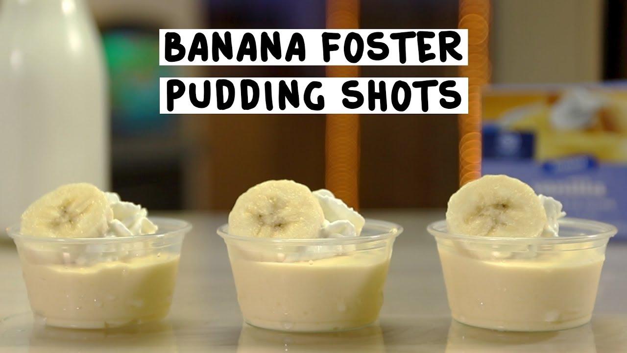 Banana Foster Pudding Shots Tipsy Bartender