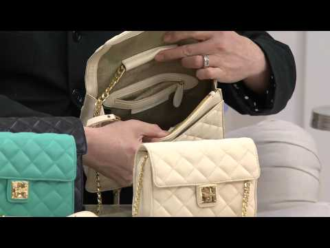 Isaac Mizrahi Live! Medium Quilted Lamb Leather Bag with Shawn Killinger