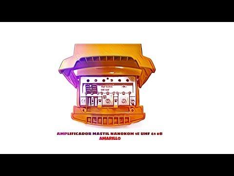 Video de Amplificador mastil nanokom 1e uhf 41 dB  Amarillo