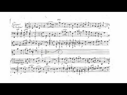 "Marin Marais - Gigue ""La Badine"" in e-minor from the second book (103)"