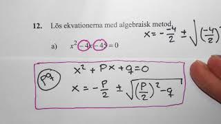 Matematik 2b. Några blandade uppgifter inför nationella provet.