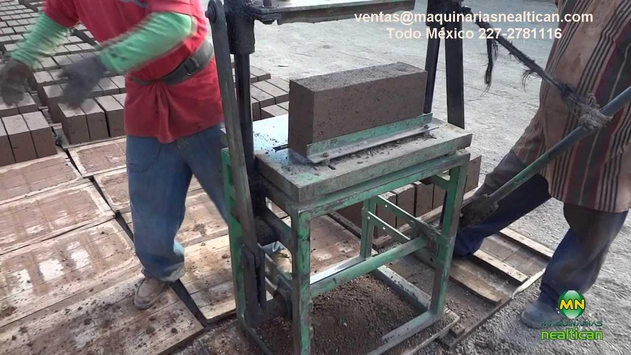 Trozadora manual de golpe para fabricar block con - Como hacer una pared de piedra y cemento ...