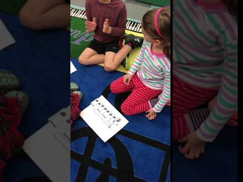 Grade 1 Quarter Note & Eighth Note Pair Rhythm Composing with Icons