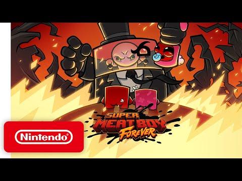 Super Meat Boy Forever - Release Date Trailer - Nintendo Switch
