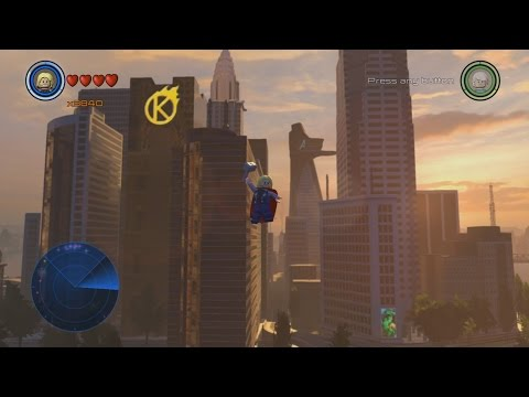 All Gold Bricks in New York (Manhattan Hub) - LEGO Marvel's