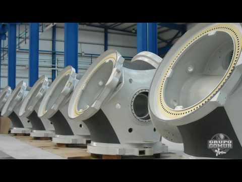 Mecanizado de grandes piezas en España: eólico,naval e industrial: Grupo Gomur