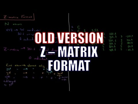 Computational Chemistry 1.10 - Z-Matrix Format (Old Version)