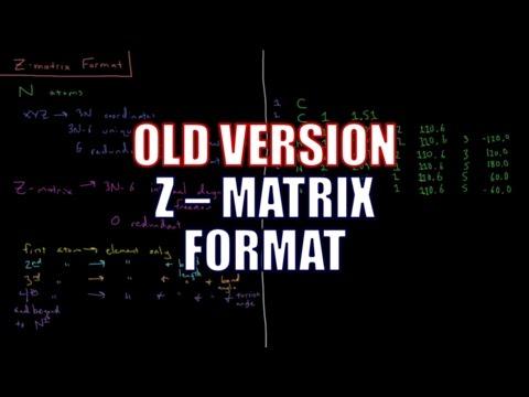 Computational Chemistry - Z-Matrices (Old Version)
