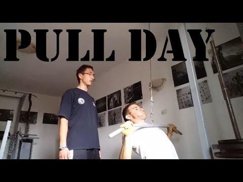 Example of one pull training for beginners - Primer jednog pull treninga za pocetnike