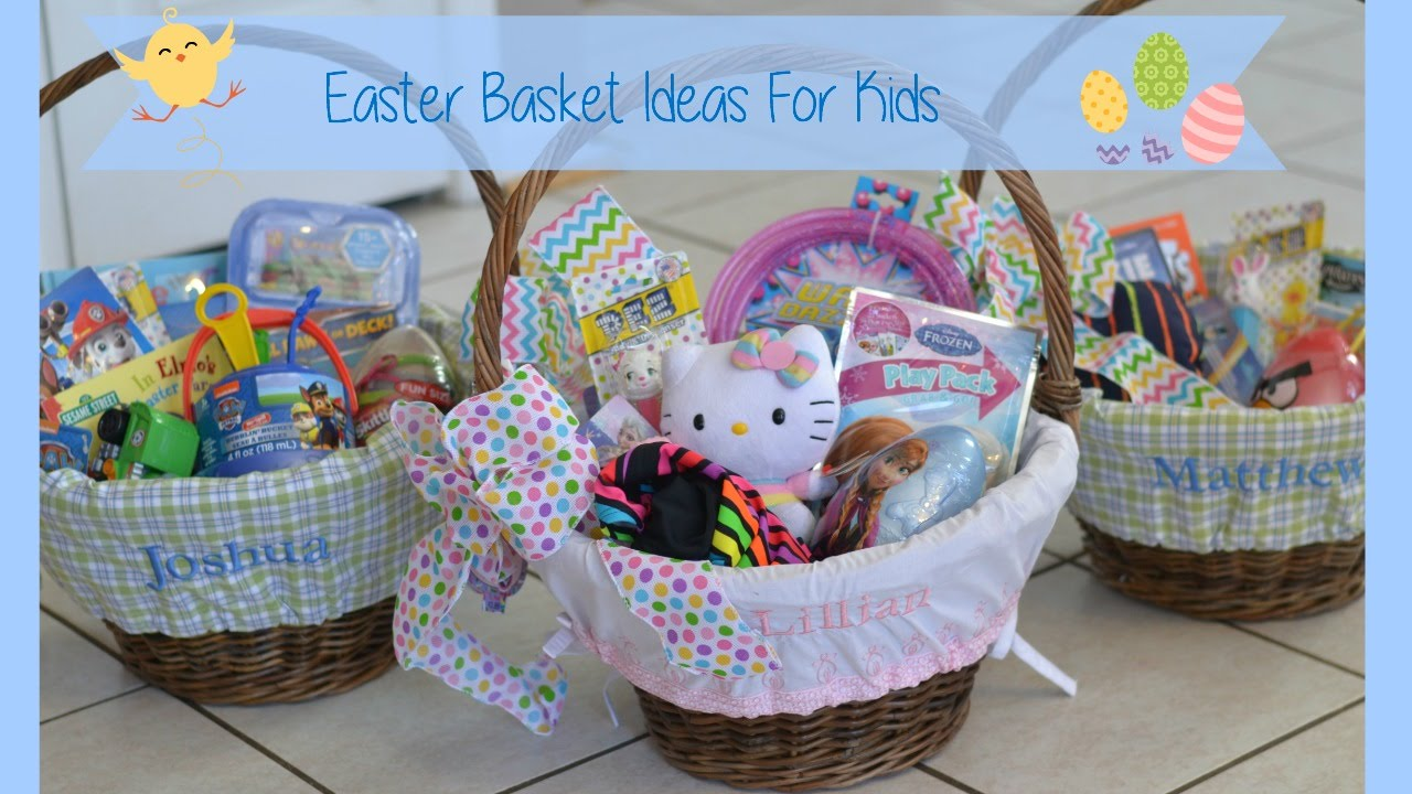 Easter basket ideas for kids youtube negle