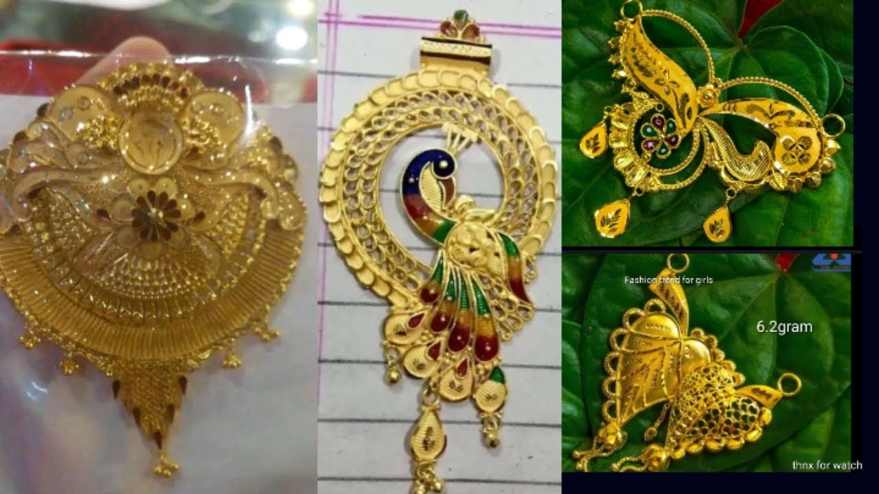 Gold mangalsutra pandent design with weight //mangalsutra locket new design