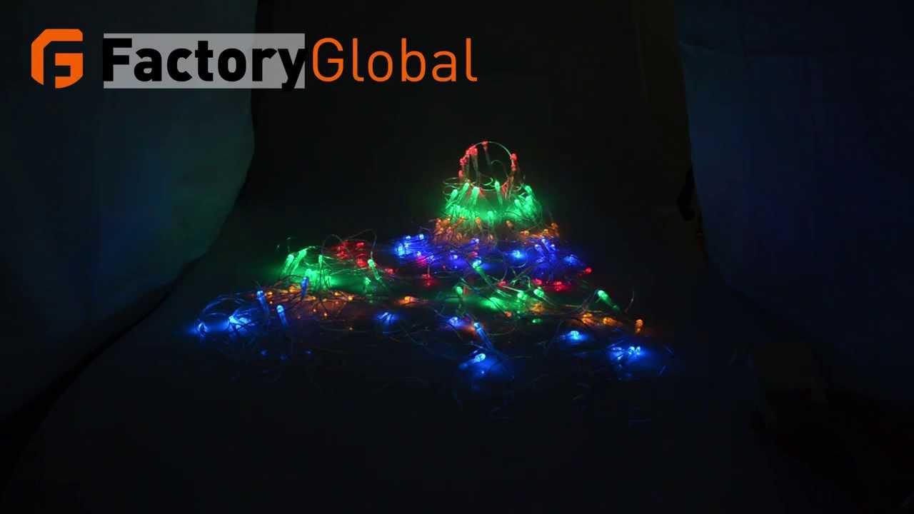 110v colorful rgb led net light with 120 led christmas light party wedding led h4188u - Rgb Led Christmas Lights