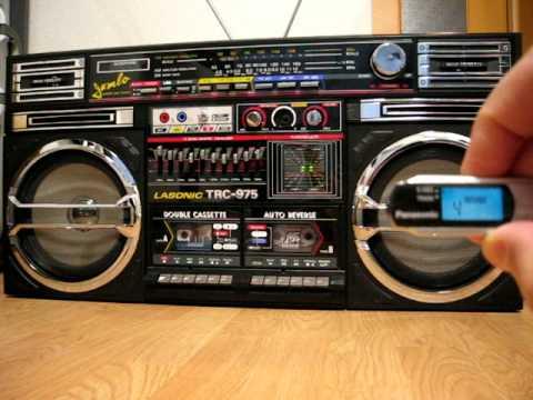 antiguo radio grabadora am fm cassette lasonic 80s doovi. Black Bedroom Furniture Sets. Home Design Ideas