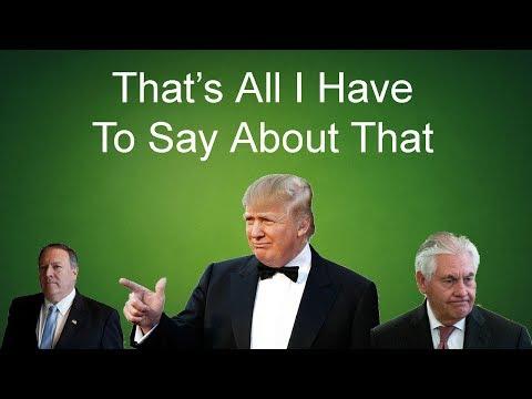 Rexit; Trump, Pompeo, and Haspel