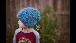 Knit Waffle Slouch (Child size) Tutorial