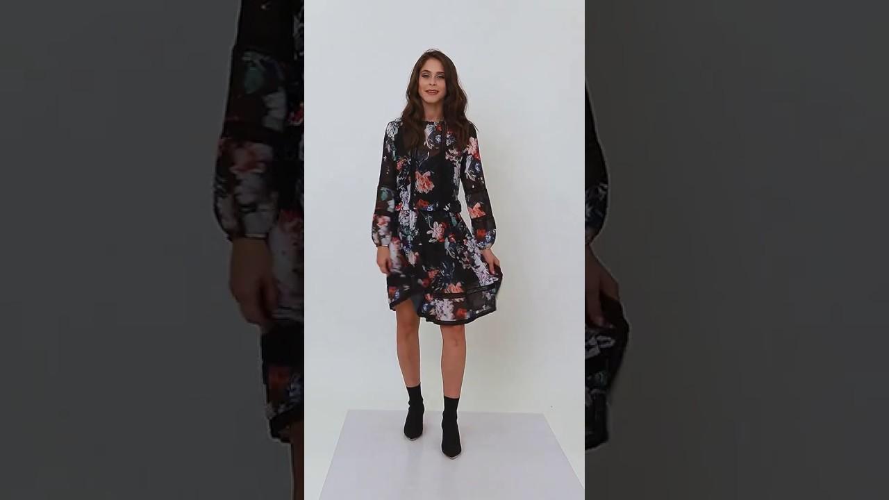 6c174895a1 Elegancka sukienka midi w kwiaty Milena Płatek - YouTube