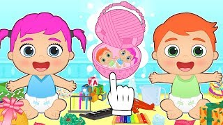 BABY ALEX AND LILY 💥 Discover Surprises and Toys by Unboxing Easter Eggs | Cartoons for Kids