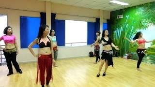 Dạy múa bụng cơ bản và nâng cao tại HCM - Bellygirls - Mashy haddy choreo
