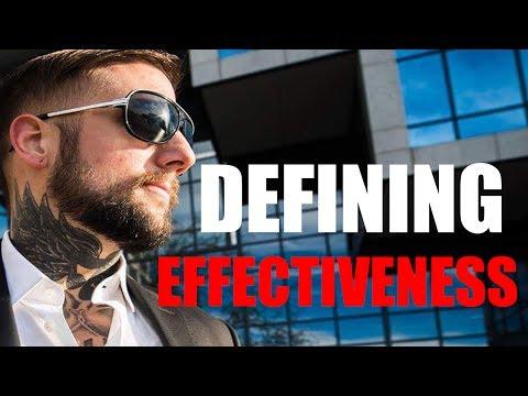 Defining Effectiveness - How To Maximize Human Effectiveness