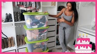 J-DAY #4 DECLUTTER MY CLOSET WITH ME + NEW STUFF HAUL thumbnail
