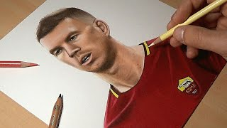 Disegno Edin Dzeko - Speed Drawing