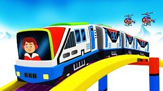 Cartoon Cartoon -  Toy Factory Cartoon Trains for Kids - Chu Chu Toy Train Videos for Kids
