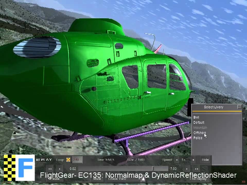 FlightGear: New EC135/EC635 Preview 2