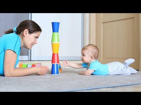Развивающие занятия для детей от 6 до 9 месяцев: ФИЗИЧЕСКОЕ РАЗВИТИЕ - часть 1