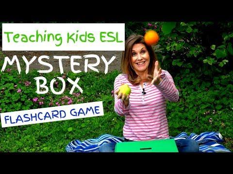 Teach Kids ESL - Mystery Box Flashcard Game // Kids English Theatre