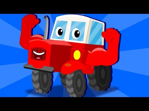 Ralph and Rocky | Tractor Song | video for kids