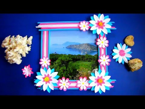 HOW TO MAKE A PHOTO FRAME WITH WASTE MATERIAL AT HOME. DIY. Out Of Newspaper Sticks. l1