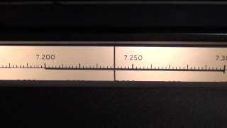 Receiver National NC303 - Amplitude Modulation (AM) QSO 7240 KHz PY2HCD with PY2CWW
