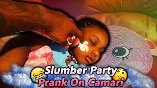 Slumber Party Prank On Camari!