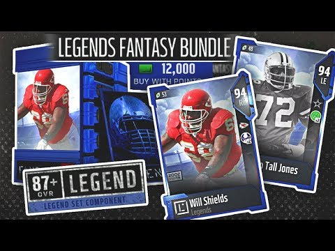 Im Feeling Lucky! Legend Bundle! New Legend Ed Too Tall & Will Shields - Madden NFL 18
