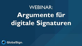 Webinar: Digitale Signaturen