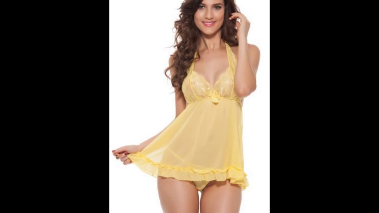 69cbcd4bf Babydoll Lingerie, Buy Sexy Babydoll Night Dress Online - YouTube